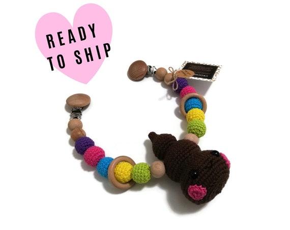 STROLLER CHAIN • Amigurumi Poop • crochet rainbow • crochet pram garland • kinderwagenkette • wagenspanner • Ready To Ship