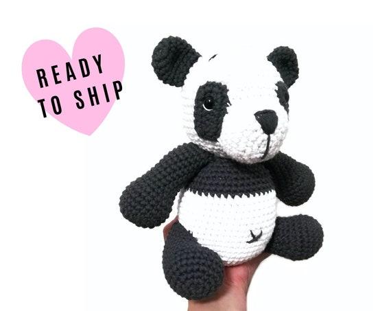 Handmade Crochet Panda  • Amigurumi panda • panda plushie • panda bear • stuffed panda • toy panda • crochetbykim • Ready to ship
