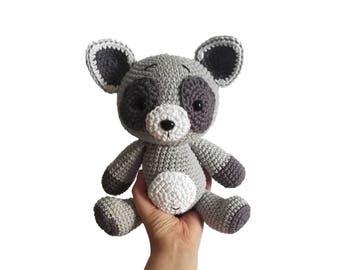 READY TO SHIP: crochet raccoon - animal - amigurumi - handmade - toy