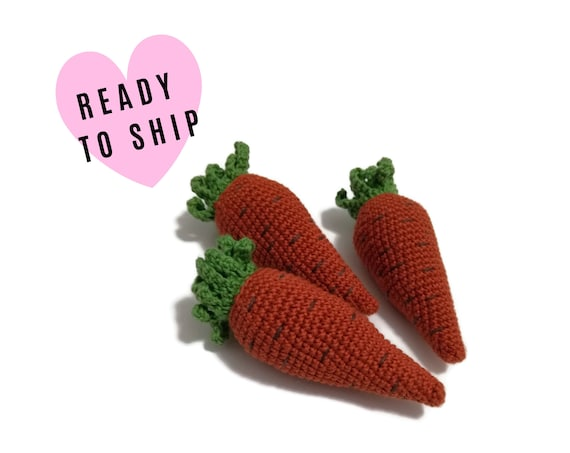 Crochet Amigurumi Playfood Carrot • Amigurumi Carrot • Soft Toy Carrot • Crochet vegetables • Pretend food • Farmhouse toy • eco friendly