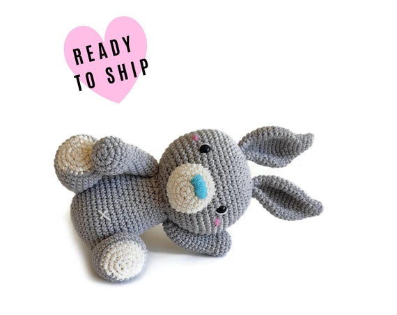 Handmade crochet amigurumi KALULU the bunny • LARGE AMIGURUMI • easter bunny • Stuffed doll bunny • konijn • conejito • Ready To Ship