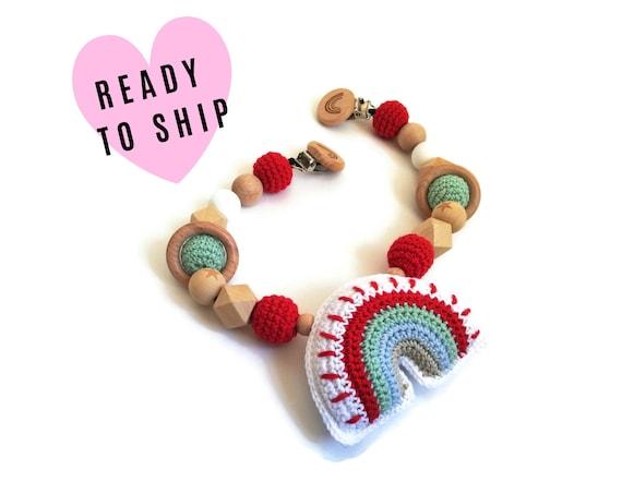 Handmade Stroller Chain • rainbow • Pram Toy • Amigurumi • crochet pram garland • kinderwagenkette • wagenspanner • Barnvagnsmobil