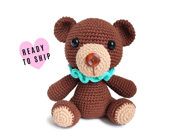 Handmade crochet teddybear • Amigurumi Teddy Bear • stuffed animal • Classic Teddy bear • Bear doll • CrochetByKim • READY TO SHIP