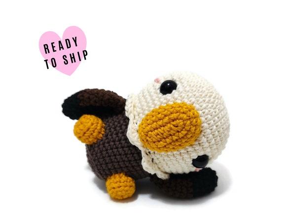 HANDMADE CROCHET Eagle • Amigurumi bird • Eagle plush • Knitted bird • Amercian bird • CrochetByKim • Ready to ship