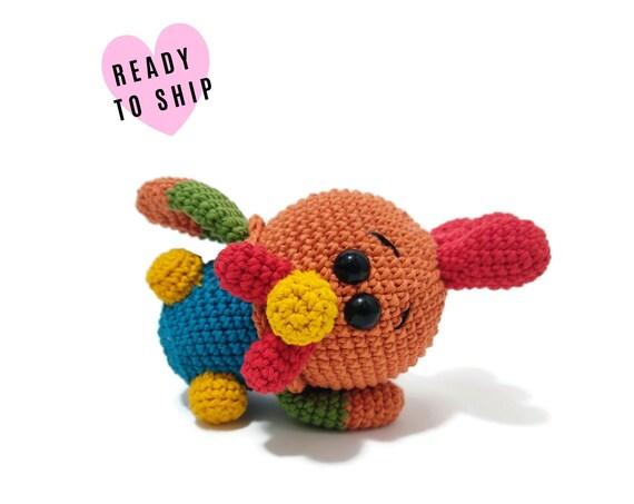 HANDMADE CROCHET Baby Rooster •  Amigurumi Cockerel • Stuffed Rooster • Farm birds • Farm animals • CrochetByKim • Ready to ship