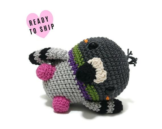 HANDMADE CROCHET Baby Pigeon • Stuffed pigeon • amigurumi pigeon • Stuffed animal • plush bird • soft toy • swedish design • Ready To Ship