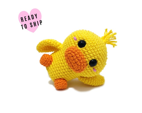 HANDMADE CROCHET Duck bird • Amigurumi Duck • Stuffed bird • Duckling • Swedish animals • CrochetByKim • Ready to ship