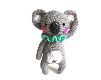 CROCHET CoCo KOALA - aussie animal - amigurumi koala - australia - handmade koala bear - stuffed animal - toy - doll - ready to ship