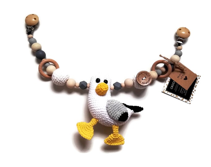 STROLLER CHAIN • amigurumi seagull • bird • crochet pram garland • kinderwagenkette • wagenspanner • Ready To Ship