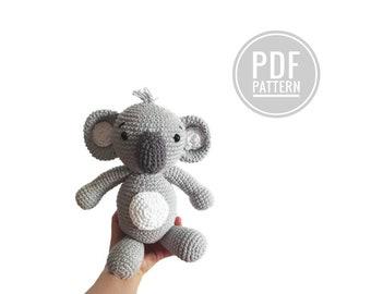 crochet pattern koala - amigurumi koala bear - stuffed koala - drowsy - plush koala - koala pattern - stuffed koala - koala bear