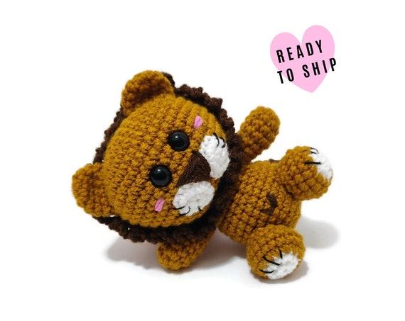 HANDMADE CROCHET LION •  Amigurumi jungle zoo animals • Zoo • Stuffed animal • Soft toy Doll • Plush lion • CrochetByKim • Ready to ship