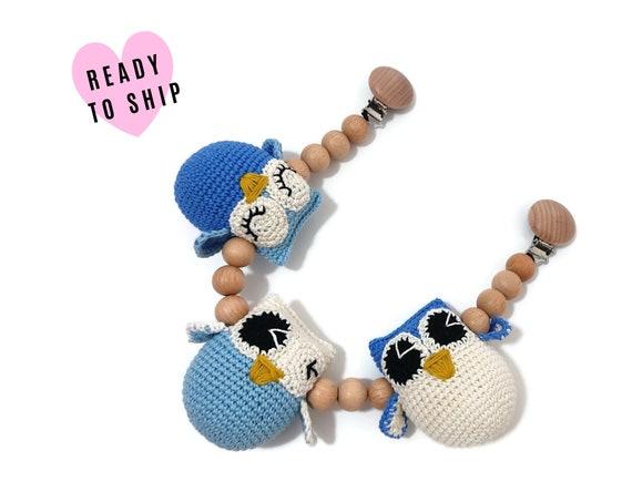 STROLLER CHAIN • amigurumi owl • woodland animals • amigurumi • crochet pram garland • kinderwagenkette • wagenspanner • Ready To Ship