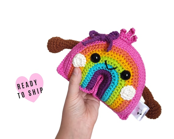 Rainbow • Handmade Crochet Amigurumi Rainbow • Bowii the rainbow • Kawaii • Rainbow Toy • Regenboog • Regnbåge • Plush Rainbow •CrochetByKim