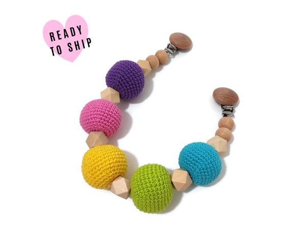 STROLLER CHAIN • amigurumi balls • rainbow • barnvagnsmobil • crochet pram garland • kinderwagenkette • wagenspanner • Ready To Ship