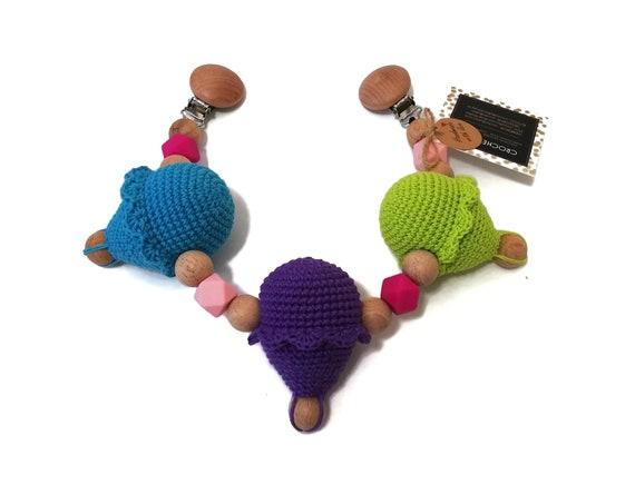 STROLLER CHAIN • amigurumi air ballons • crochet pram garland • kinderwagenkette • wagenspanner • Barnvagnsmobil • Ready To Ship