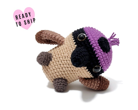 HANDMADE CROCHET Purple Crowned Fairy Wren • Amigurumi bird • parrot plush • Australian animals • Aussie bird • CrochetByKim • Ready to ship