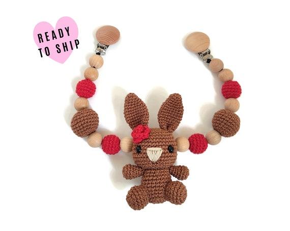 STROLLER CHAIN • amigurumi bunny • woodland animals • crochet pram garland • kinderwagenkette • wagenspanner • Ready To Ship