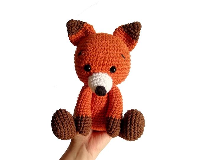 Handmade crochet fox - amigurumi fox - crochet toy - Stuffed fox - plush animal - Woodland animals - forest fox MADE TO ORDER