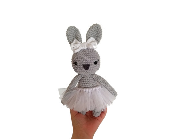 Crochet bunny - stuffed animal - bunny - easter bunny - handmade - plush - cotton - amigurumi - rabbit doll - ballerina skirt