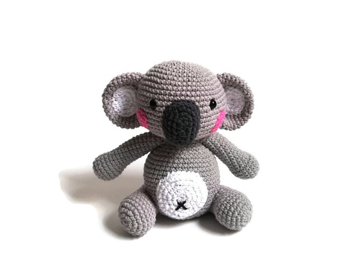 CROCHET KOALA - aussie animal - amigurumi koala - australia - handmade koala bear - stuffed animal - toy - doll -  large - ready to ship