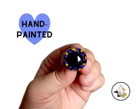 Hand Painted Eyes 12 mm 15 mm 18 mm 20 mm • Safety eyes • Amigurumi Eyes • LEO Toy Eyes • Plastic Eyes • Doll Eyes • Crochet Knit Sew •