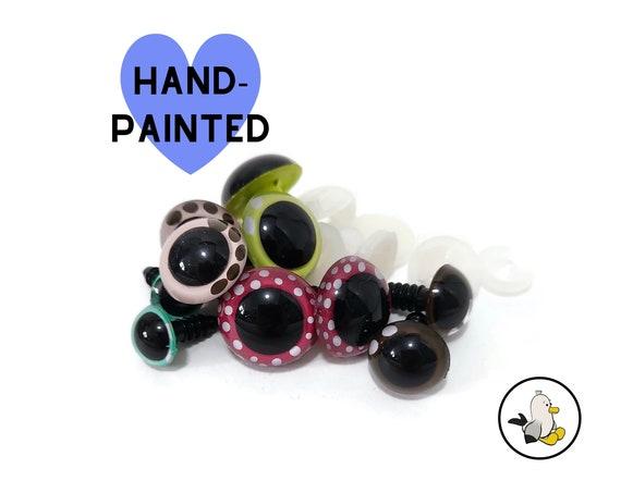 Hand Painted Eyes 12 mm 15 mm 18 mm 20 mm • Safety eyes • Amigurumi Eyes • Toy Eyes • Plastic Eyes • Doll Eyes • Crochet Knit Sew •