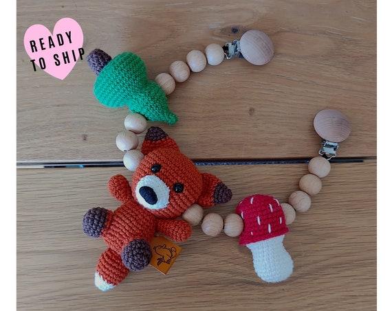 STROLLER CHAIN • Amigurumi Fox • Woodland animal • crochet pram garland • kinderwagenkette • wagenspanner • Ready To Ship