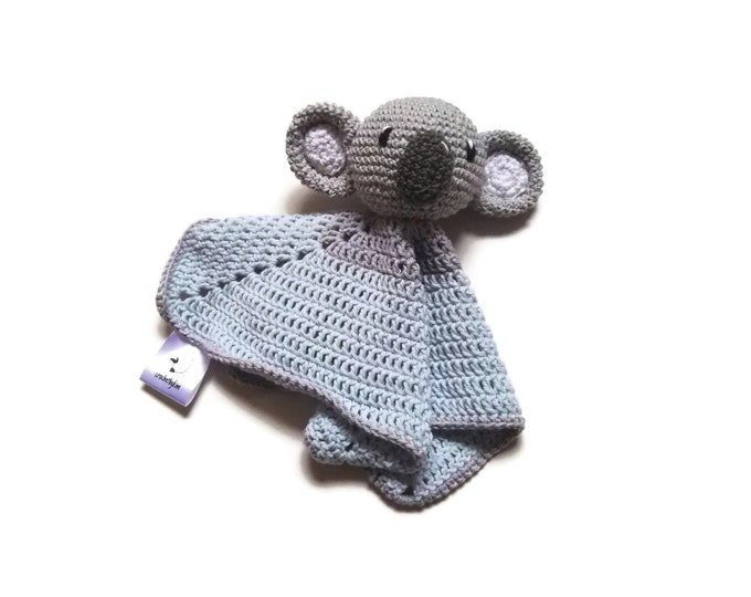 READY TO SHIP: lovey - snuggle - security blanket - koala - crochet - handmade - amigurumi - cute baby blanket - baby shower gift