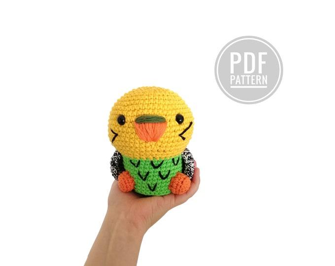 CROCHET PATTERN - amigurumi budgie - chubby baby bird - kawaii bird - Australian bird - toy - parrot - stuffed bird - crochetbykim