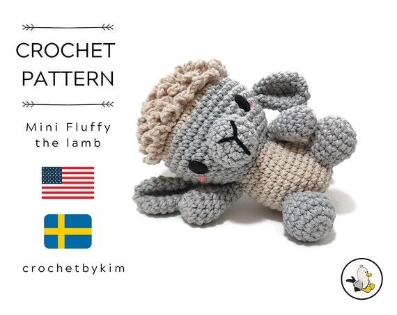 AMIGURUMI CROCHET PATTERN • Fluffy the lamb • amigurumi sheep • doll • farm animals • lamb softie • amigurumi animal • crochetbykim