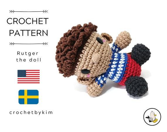 AMIGURUMI DOLL PATTERN • Rutger the doll • crochet doll pattern • Instant Download • interior doll pattern • crochetbykim