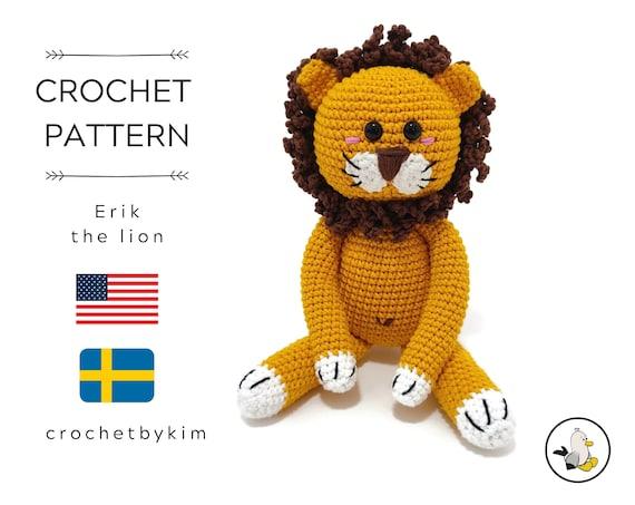 AMIGURUMI CROCHET PATTERN • Erik the lion • amigurumi lion • woodland • zoo • jungle animal • stuffed animal • knitted lion • pdf