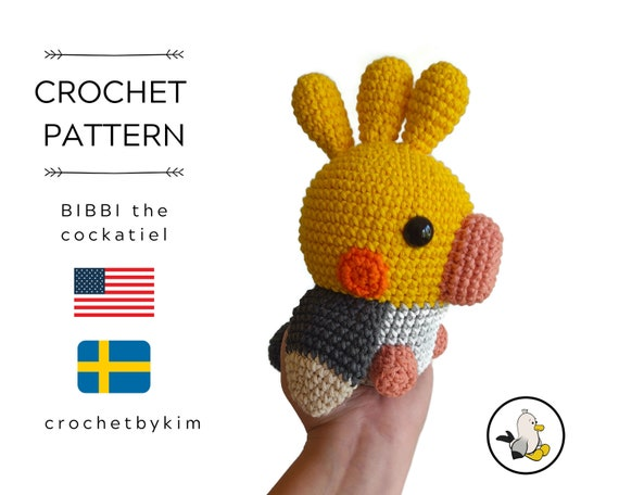 AMIGURUMI CROCHET PATTERN • Bibbi the cockatiel • Aussie bird • amigurumi bird • weiro bird • Kawaii bird • quarrion • Cockatoo •pdf
