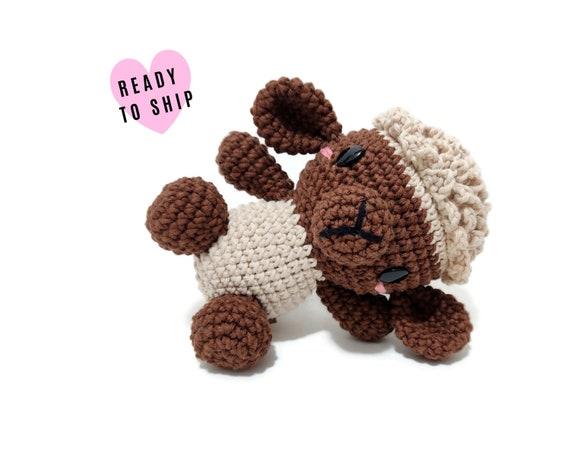 Handmade Crochet Amigurumi Sheep • Mini Fluffy the lamb • Stuffed animal • Plushie • Farm animal • CrochetByKim • READY TO SHIP