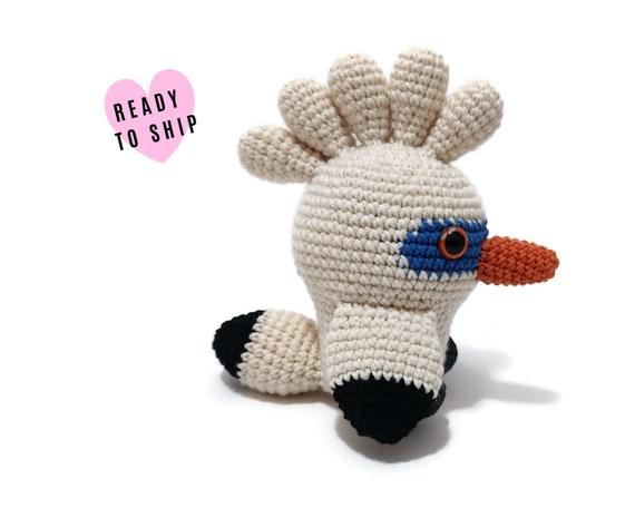 HANDMADE CROCHET Bali Myna bird •  Amigurumi white bird • Stuffed bird • Bali birds • Bali animals • CrochetByKim