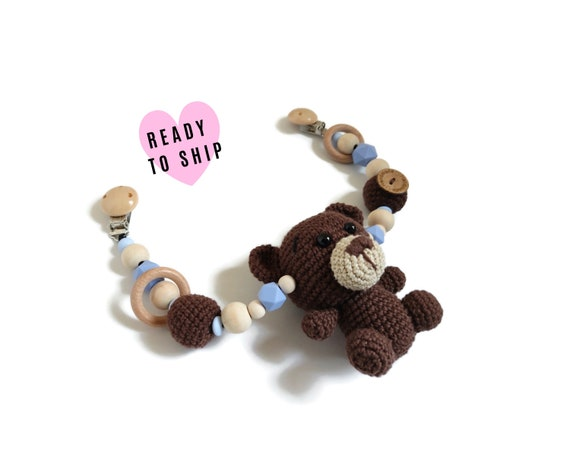 STROLLER CHAIN • teddy bear • woodland animals • amigurumi • crochet pram garland • kinderwagenkette • wagenspanner • Ready To Ship