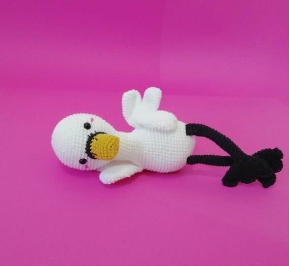Handmade Crochet Amigurumi Swan - amigurumi bird - swan doll - Woodland animals - baby swan - decorative doll - crochetbykim - READY TO SHIP