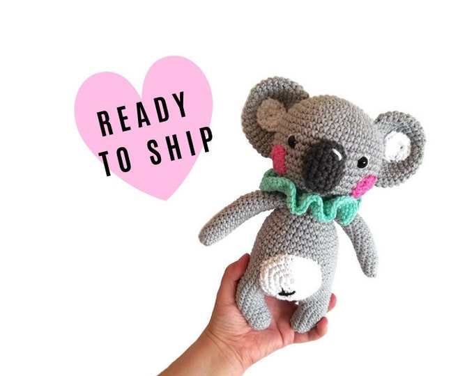 Handmade Crochet Koala • aussie animal • amigurumi koala • australia • handmade koala bear • stuffed animal • READY TO SHIP