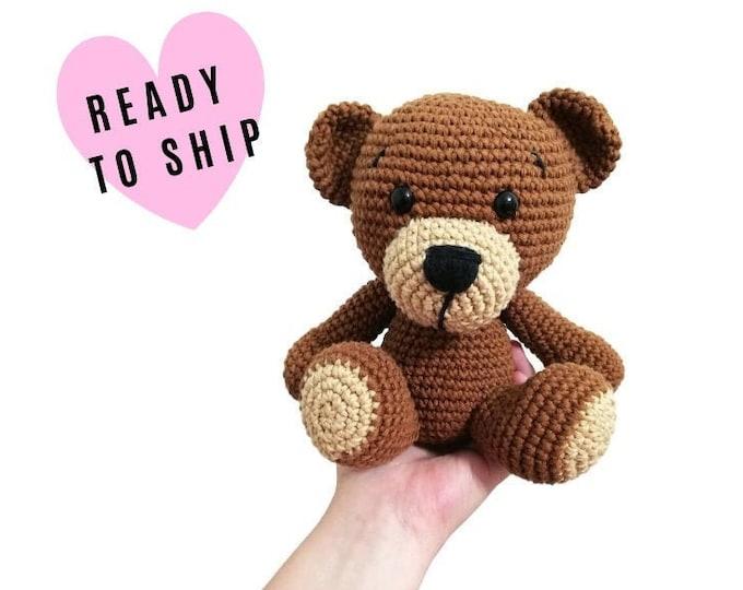 Handmade crochet teddy bear • Harry the bear • stuffed animal • Classic Teddy bear • Bear doll • CrochetByKim • READY TO SHIP