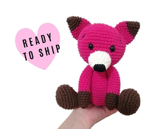 Handmade crochet fox - amigurumi fox - crochet toy - Stuffed fox - plush animal - Woodland animals - forest fox READY TO SHIP
