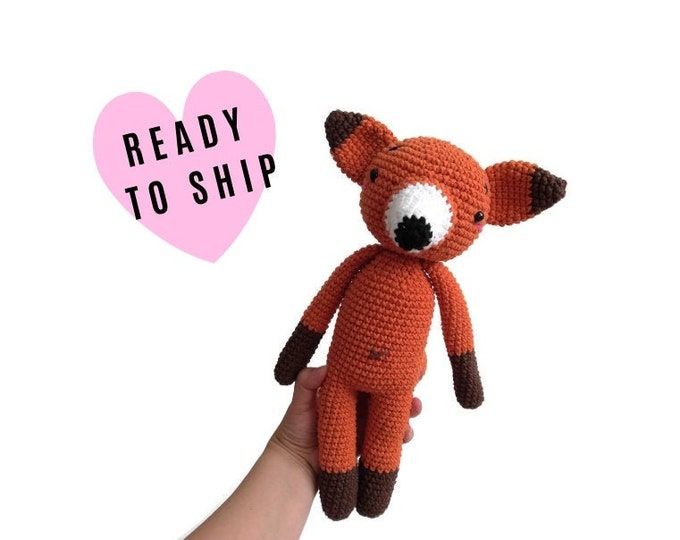 Handmade Crochet Fox • amigurumi fox • crochet toy • Stuffed fox • Plush animal • Woodland animals • Stuffed animal • Forest Fox