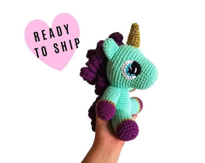 Handmade Crochet Unicorn Doll - Amigurumi Unicorn - Soft Toy - magical - Handmade toy - pastels - pegasus - party - READY TO SHIP