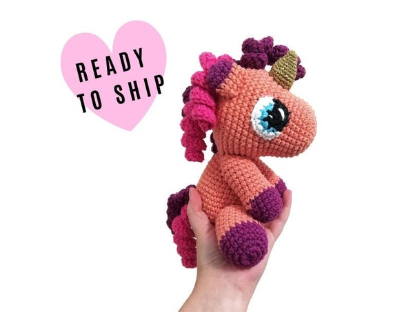 Handmade Crochet Unicorn Doll - Amigurumi Unicorn - Soft Toy - magical - Handmade toy - pastels - pegasus - party - READY TO SHIP