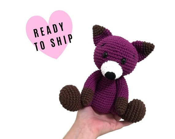 Handmade crochet fox - amigurumi fox - crochet toy - Stuffed fox - plush animal - Woodland animals - forest fox READY TO SHIP