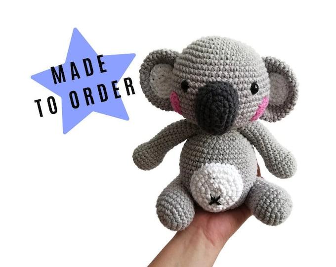 Handmade Crochet Koala amigurumi • Aussie animal • Stuffed animal • Australia • Teddybear • Plush toy • CottonToy • CrochetByKim