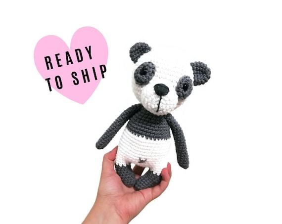Handmade Crochet Amigurumi Panda - panda plushie - panda bear - stuffed panda - toy panda - CrochetByKim - READY TO SHIP
