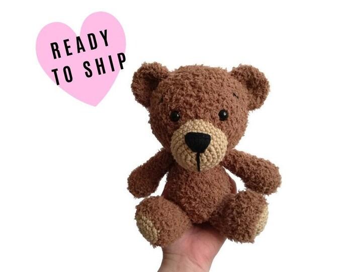 Crochet handmade amigurumi teddy bear • Harry the bear • stuffed animal • Classic Teddybear • bear doll • crochetbykim • READY TO SHIP