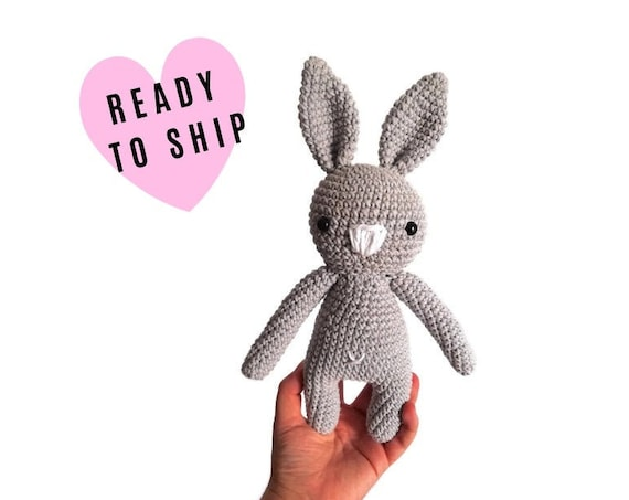Handmade crochet amigurumi bunny • stuffed animal • easter bunny • plush • cotton toy • rabbit doll • newborn gift • READY TO SHIP