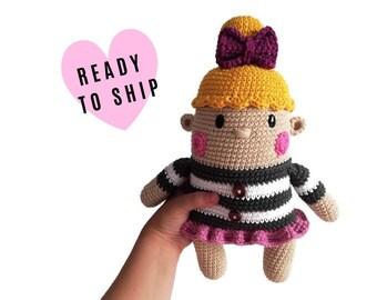 Handmade crochet doll • GRETA the doll • amigurumi doll • handmade doll • interior doll • Dress • stuffed doll • CrochetByKim