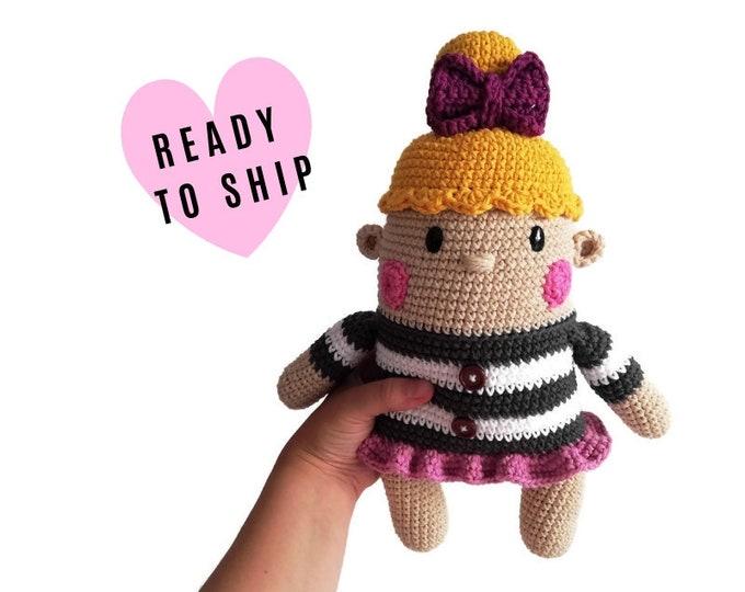 Handmade crochet doll • GRETA the doll • amigurumi doll • handmade doll • gift for girl • interior doll • Dress • stuffed doll